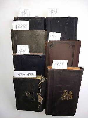 ANTIQUE HANDWRITTEN DIARY ARCHIVE-History-Genealogy-Chatham NY-1862-1909-RARE-VG