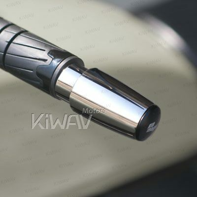 KiWAV Stainles bar end weight chrome 6mm bolt-on for Piaggio Beverly 125-500
