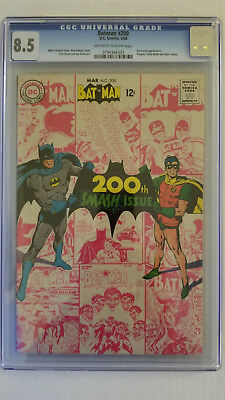 Batman #200 CGC 8.5 VF+  Neal Adams Cover