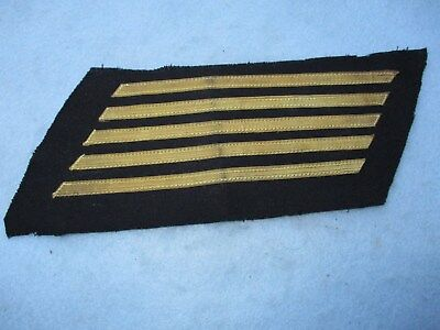 WWII US Navy Chief Petty Officer Service Stripes Blue Uniform Gold Bulion