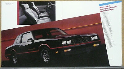 1986 Chevrolet Monte Carlo SS Print Ad Poster Size