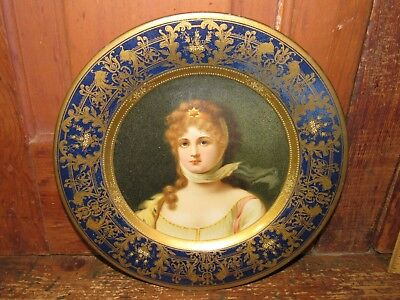 Near MINT Antique 1908 Vienna Art Plate 'Queen Louise of Prussia?