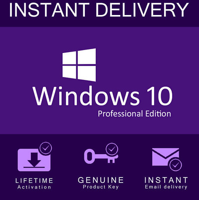 Microsoft Windows 10 Pro Professional 32/64 Bit + License Key