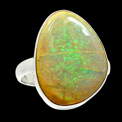 Sterling Opal 925 Sterling Silver Ring Jewelry s.9 AR2533