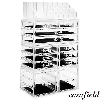 Large Cosmetic Makeup Organizer Jewelry Drawer Storage Box Acrylic Display Case
