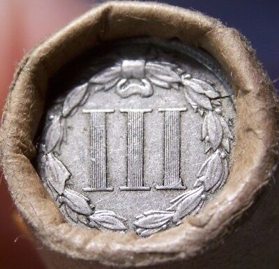 3 Cent Nickel/1898 Indian Head Cent Great End Coins Antique Roll Shown #7510