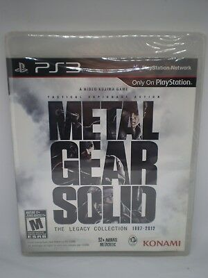 Nip Sealed Metal Gear Solid Legacy Collection Video Game Ps3 Playstation 3