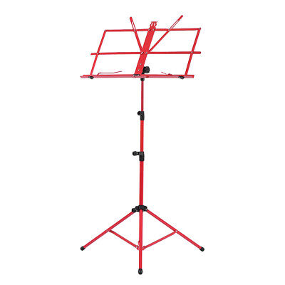 Adjustable Folding Sheet Music Tripod Stand Holder Heavy Duty Red+Case Hot W7A4