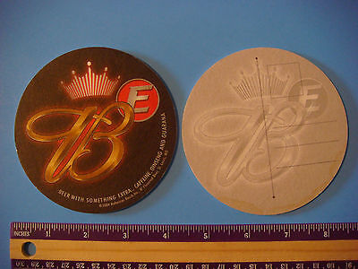 "2004 Beer Collectible Coaster ~ BUDWEISER ""E"" with Caffeine, Ginseng and Guarana"