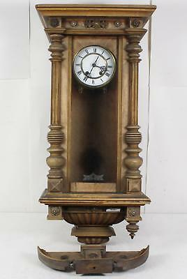 """30"""" Vintage Wall Mount Pendulum Clock That Chimes Every Hour And Half Hour"""