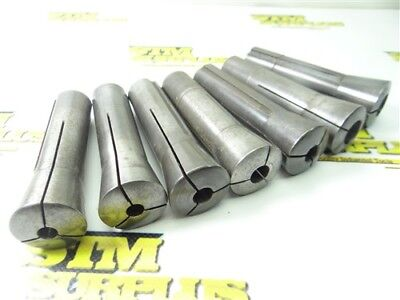 """7Pc Lot Of Precision R8 Collets 5/16"""" To 5/8"""""""