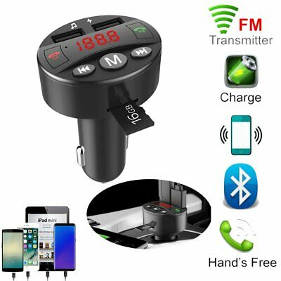 Auto KFZ Freisprechanlage Bluetooth FM Transmitter MP3 Musik Player USB SD Port
