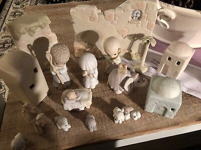 precious moments nativity figurines With Rare Wall Additions