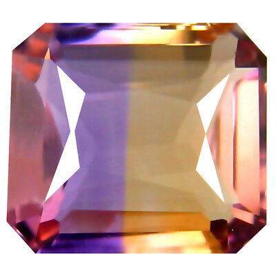 5.33 ct AAA+ Fair Octagon Shape (12 x 10 mm) Purple and Yellow Ametrine Gemstone