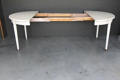 Antique French Art Deco dining table hand painted provincial extension banquet