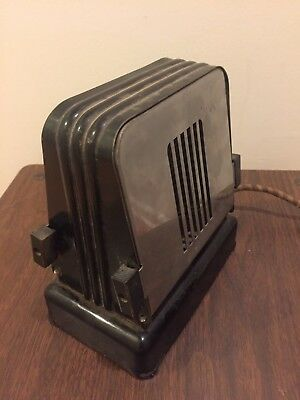 1930's Vintage Antique Art Deco Toaster MONTGOMERY WARD Flopper