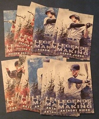 2018 Topps Legends in the Making Insert White Blue Black You Pick from List