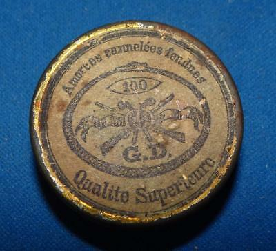 """ca1850's """"GOLDMARKS"""" PERCUSSION CAP TIN - WINCHESTER REPEATING ARMS CO."""