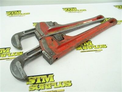 """Pair Of Ridgid Heavy Duty Pipe Wrenches 12"""" & 14"""""""