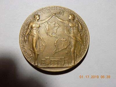 1916 SECOND PAN-AMERICAN SCIENTIFIC CONGRESS - WASHINGTON U.S.A. 51mm Bronze BU