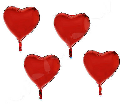 """15x 18"""" Red Heart Foil Helium Balloons Valentines Day Wedding Engagement Red"""
