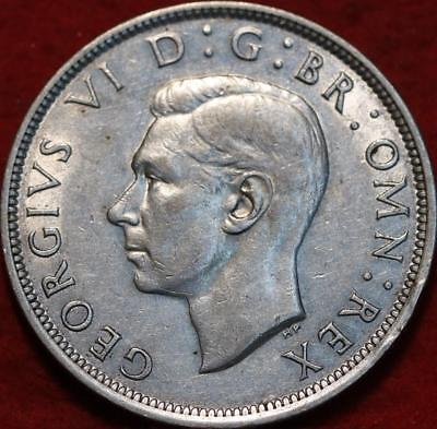 1943 Great Britain 1/2 Crown Silver Foreign Coin