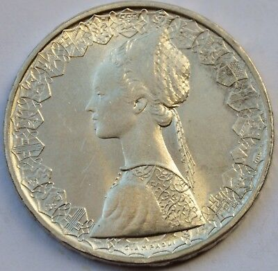 Italy 500 Lire, 1967, Christopher Columbus's ships, silver coin