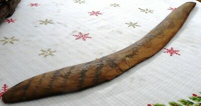 Very Old Aboriginal Carved Boomerang 64 cms