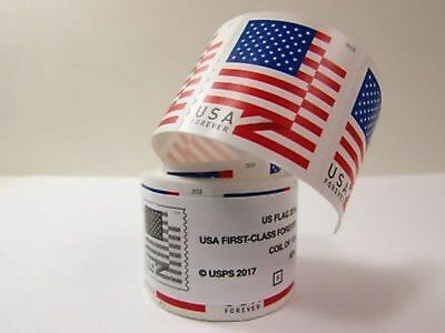 Usps Forever Stamps 2018 Us Flag Roll/coil 100 First Class Postage Free Shipping