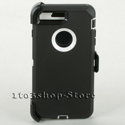 iPhone 7 iPhone 8 Case w/Holster Belt Clip fits Otterbox Defender - Black White