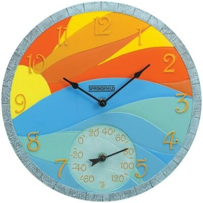 Springfield(R) Precision 92672 14 Poly Resin Clock with Thermometer (Sunrise)