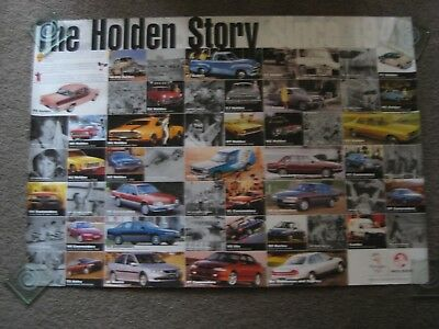 Holden  Rare Poster. The Holden Story Since 1948 Commodore