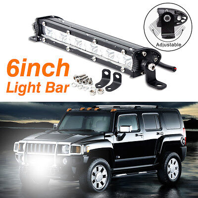 6 Inch 180W LED Work Light Bar Offroad Flood Lamp Truck Boat Driving SUV Lamp