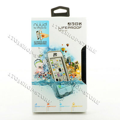 LifeProof Nuud Waterproof Shockproof Hard Case For iPhone 5c White Gray / Clear
