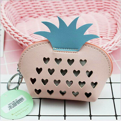 Girl Fruit Shape Money Pouch Purse Keyring Coin Holder PU Leather Wallet CB