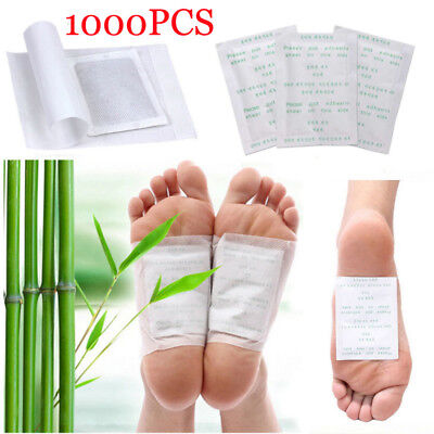 1000 Detox Foot Pads Patch Detoxify Toxins Keeping Fit Health Care with Adhesive
