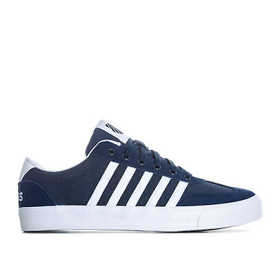 Mens K-Swiss Addison Vulc Trainers In Navy