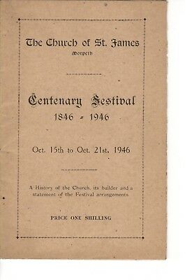 Church of St. James, Morpeth. Centenary Festival booklet 1846-1946.  (1946)