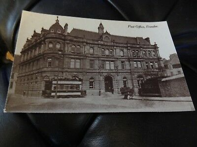 Post Office Dundee Postcard Trams Angus