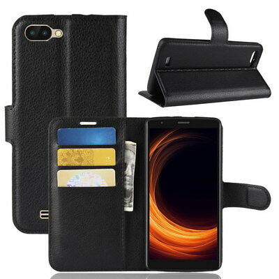 Flip Stand PU Leather Card Slot Phone Case Cover Skin For Blackview A20 A20 Pro