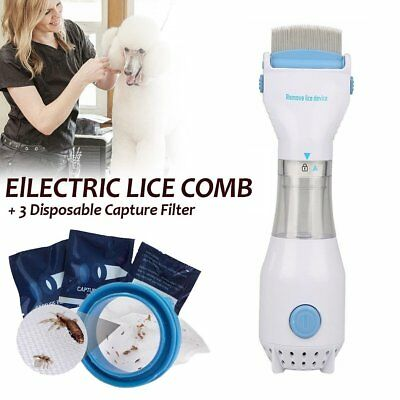 Electric Chemical Electronic Head Lice nit Comb Pet clean Detects Kills Headlice