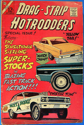 Drag-Strip Hotrodders No. 11, Charlton, Sept. 1966, Silver Age Dragstrip Comic
