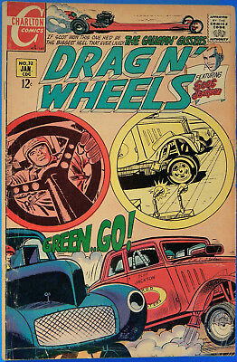 Drag N' Wheels No. 32, Charlton, January 1969, Jack Keller, Silver Age Comic