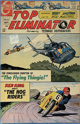 Top Eliminators No 25, Charlton Sept. 1967, Silver Age Hot Rod Comic Jack Keller