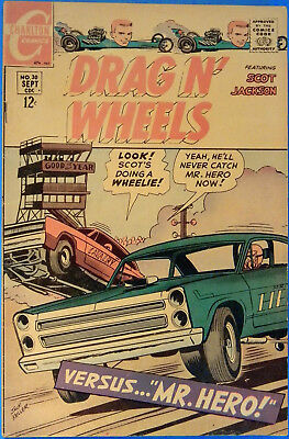 Drag N' Wheels No. 30, Charlton, September 1968, Jack Keller, Silver Age Comic