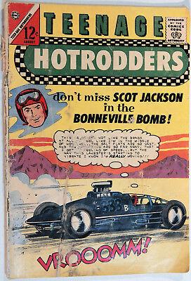 Teenage Hotrodders Vol 1 No 3, Charlton, Aug 1963, Jack Keller, Silver Age Comic