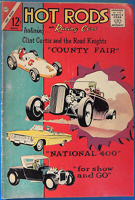 Hot Rods and Racing Cars No 68 Charlton March 1964 Clint Curtis Silver Age Comic