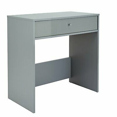 Argos Home Gloss Front 1 Drawer Compact Laptop Desk - Grey.