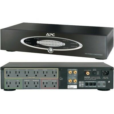 APC H10BLK 12-Outlet H-Type Rack-Mountable Power Conditioner with Coaxial Protec