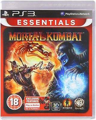 Mortal Kombat Essentials PS3 Brand New Sealed Official PlayStation 3